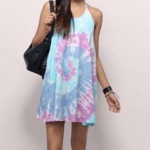 Tie Dye Halter Dress